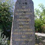 Bretteville, stèle 2nd Lt. Alva Bessey