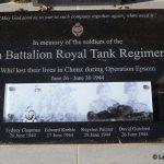 Cheux, stèle 9th Battalion Royal Tank Regiment