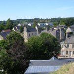 Bricquebec, vue du château vers le sud