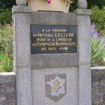 Flamanville, monument général Leclerc