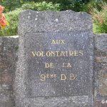 Flamanville, stèle 2e DB
