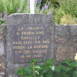 Flamanville, stèle général de Gaulle