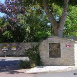 Anguerny, stèle Régiment La Chaudière