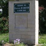 Anguerny, stèle Capitaine Michel Gauvin