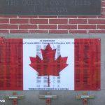 Bernières-sur-Mer, panneau régiments canadiens