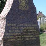 Colleville-Montgomery, stèle 1er BFMC
