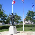 Colleville-Montgomery, statue Field Marshal Viscount Montgomery