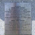 Colleville-sur-Mer, plaque Private Manuel Martinez