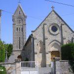 Goustranville, l'église de l'Assomption Notre-Dame du XIIe siècle