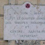 Hermanville-sur-Mer, plaque QG britannique et centre sanitaire