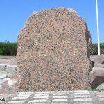 Ouistreham, stèle Commando Dumanoir