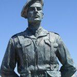 Ouistreham, statue Lord Lovat