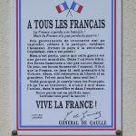 Tour-en-Bessin, plaque général de Gaulle