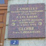 Landelles-et-Coupigny, plaque 29th US Infantry Division