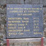 Landelles-et-Coupigny, plaque soldats américains