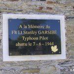 La Vacquerie, plaque Flight Lieutenant Garside