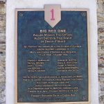 La Vacquerie, plaque 1st US Infantry Division