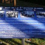 Saint-James, panneau voie de la 2e DB