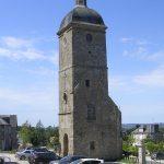 Saint-Sever-Calvados, le clocher de l'ancienne abbatiale du XIIIe siècle