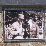 Tournières, panneau historique sur l'église