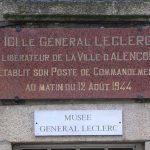 Alençon, plaque QG général Leclerc