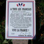 Bréhal, stèle Appel du 18 juin 1940