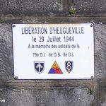 Heugueville-sur-Sienne, plaque de la Libération