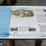 Heugueville-sur-Sienne, panneau Pont de La Roque