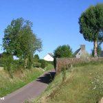 Heugueville-sur-Sienne, l'entrée du village