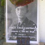 Saint-Germain-d'Elle, panneau 1st Lieutenant Lloyd Courtney