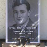 Saint-Germain-d'Elle, panneau Sergeant John Simonetti