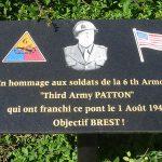 Pontorson, plaque 6th US Armored Division