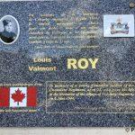Anguerny, plaque Louis Valmont Roy