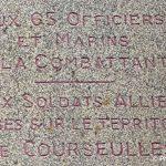 Courseulles-sur-Mer, plaque la Combattante