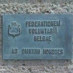 Courseulles-sur-Mer, plaque Volontaires belges