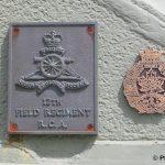 Courseulles-sur-Mer, plaques 12th Field Regiment RCA & British Columbia Regiment