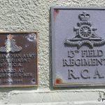 Courseulles-sur-Mer, plaques 19th Field Regiment RCA & 13th Field Regiment RCA