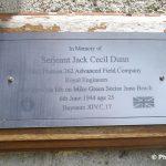 Graye-sur-Mer, plaque Serjeant Jack Dunn
