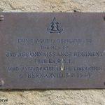 Hermanville-sur-Mer, plaque 3rd Reconnaissance Regiment