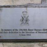 Hermanville-sur-Mer, plaque 13th/18th Royal Hussars