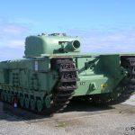 Lion-sur-Mer, char Churchill AVRE