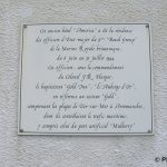 Ver-sur-Mer, plaque « Gold Inn »