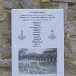 Ver-sur-Mer, plaque The Green Howards